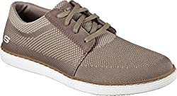Skechers Mens Lanson Revero Sneaker Oxfords Tan Knitted Mesh 7 D(M) US