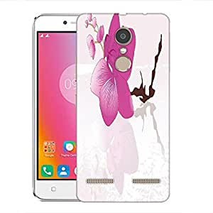 Snoogg abstract background with blossoms Designer Protective Back Case Cover For Lenovo K6 Power