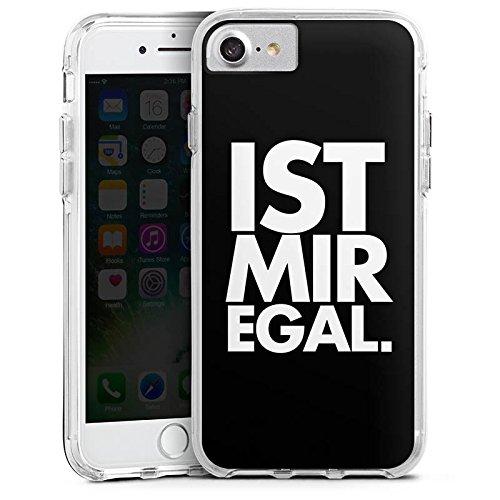 Apple iPhone X Bumper Hülle Bumper Case Glitzer Hülle Sprüche Sayings Phrases Bumper Case transparent