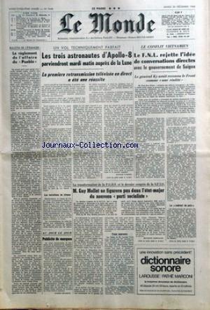 MONDE (LE) [No 7448] du 24/12/1968 - LE REGLEMENT ...