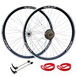 QR 700c Road Racing Bike Double Wall Wheelset Sealed Bearing Hub 7 speed