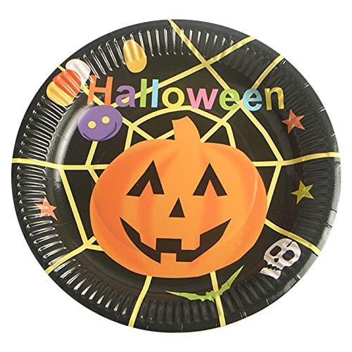 Balight Halloween Kürbis Einweg Teller Party Stehtisch Dekoration Zauberer Westlichen Platte 10 stücke