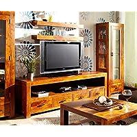 Tavolino per TV, Acacia Guru miele 200x 604cassetti by Wolf