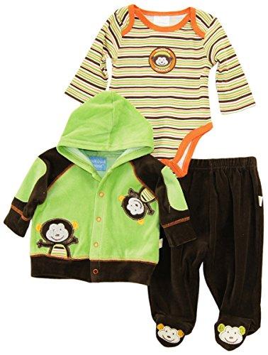 duck-goose-baby-boys-mommys-cute-monkey-cardigan-jacket-bodysuit-3pc-pant-set-brown-3-6-months