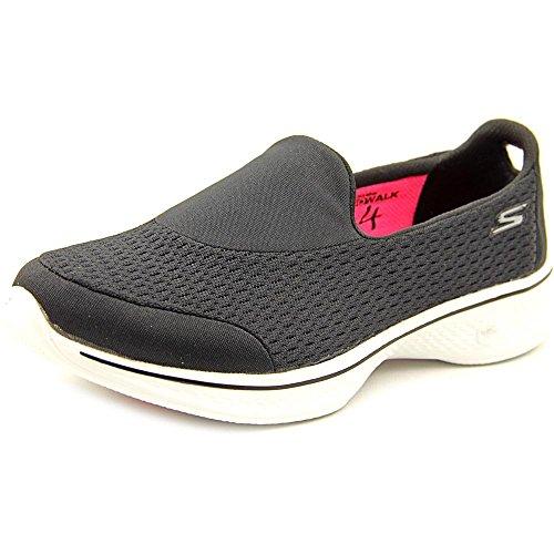 Skechers Damen Go Walk 4-Pursuit Sneakers Black / White