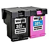 Wolfgray 301XL Remanufacturado para HP 301 XL 301 Cartuchos de tinta (1 negro, 1 tricolor) para HP...