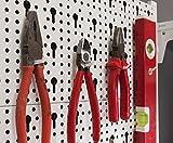 Element System Werkzeuglochwand aus Metall, Heimwerker-Grundset inklusive Schrauben und Dübel, weiß, 11300-00005 - 5