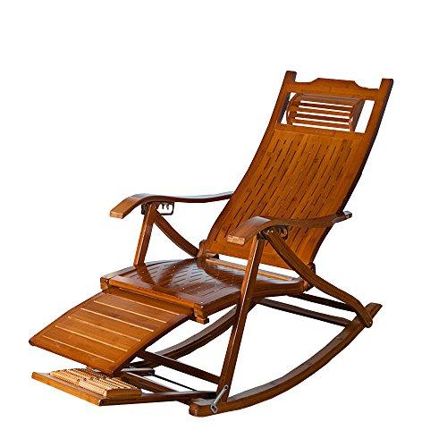 Lha sedia a dondolo per il tempo libero sedia a dondolo vuota sedia a dondolo in bambù sedia per pausa pranzo antica sedia in legno massello sedia a dondolo poltrona imbottita