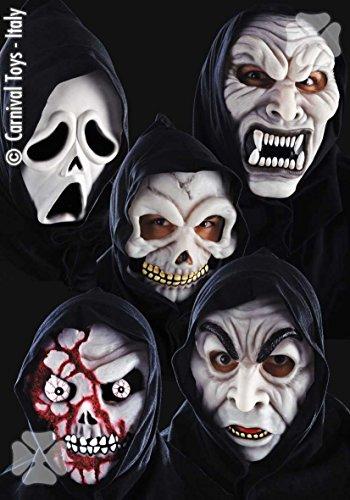 Carnivaltoys - maschera horror in fingomma fluorescente - halloween carnevale