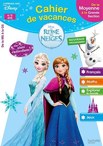 Cahier de vacances la Reine des Neiges de la MS à la GS - Cahier de vacances