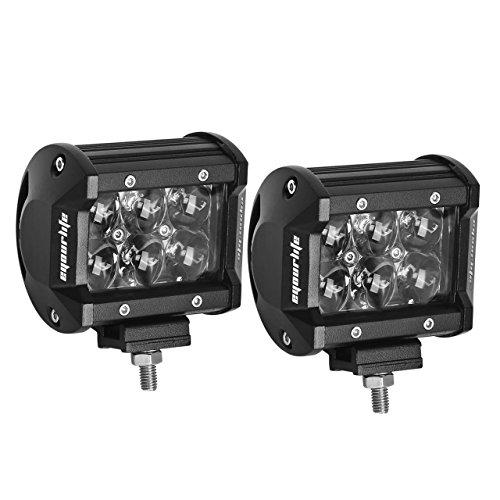 Eyourlife LKW Arbeitsscheinwerfer Rückfahrscheinwerfer 18W 4D Fischauge Hyper LED Auto Beleuchtung 2 Stück (Floodlicht)
