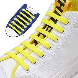 fangcheng Elastique Lacets Silicone Adulte Flat 12pcs 6cm No Tie Lacets pour Conseil Bottes, Chaussures