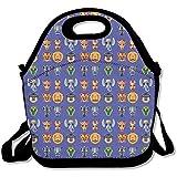 Afrikanische Tier-Masken, flache Symbole, große und dicke Neopren-Lunch-Taschen, isolierte Lunch-Tasche, Kühltasche, warm, mit Schultergurt, für Damen, Teenager, Mädchen, Kinder, Erwachsene