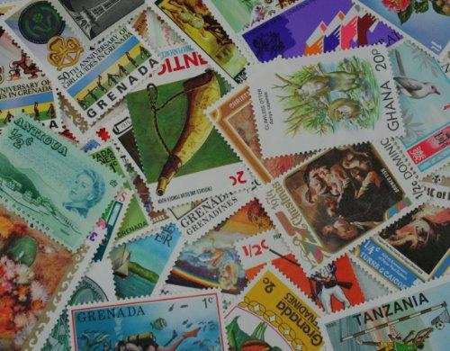 Briefmarken-Set British Commonwealth, 60-teilig, tolle Auswahl, ideal als Starter-Set
