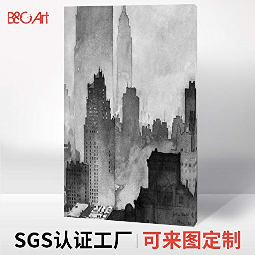 zlhcich Xuanguan Pittura Moderna casa Minimalista a Getto d'inchiostro Pittura a Olio Decorativa 40 * 60 cm
