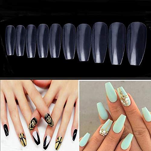 (FIGHTART Nägel Künstlich Falsche Nägel Fingernägel,600pcs 10 Größen Künstlich Fingernägel Nail Tips ,Geeignet für Salon & DIY Nail Art)