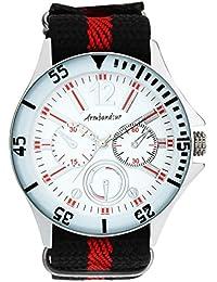 Armbandsur Analog white Dial nylon strap Men's Watch-ABS0007MWM