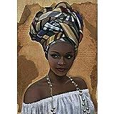 Akddy 5D DIY Diamond Pintura África Sombrero Mujeres Punto de Cruz Bordado Mosaico Kit