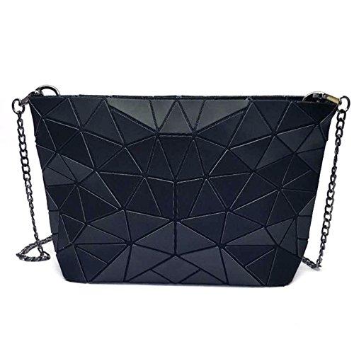 Pacchetto colorato colore laser arcobaleno, pacchetto geometrico diamond chain, borsa donna messenger-B B