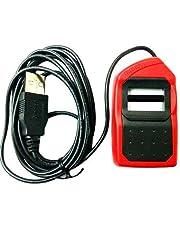 MILESTONE Morpho MSO 1300 E3 Fingerprint Scanner USB with RD Registered (Red and Black)