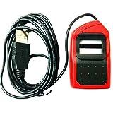 #5: Safran Morpho USB 1300E3 Fingerprint Biometrics MSO OTG(All-in-one version) for Aadhaar eKYC and Sim Activation, 2.5x13(Red and Black)