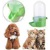 Everpert Dispensador de Agua para Gatos y Perros, 1 l, Botella de Bebida automática para Mascotas