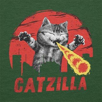 TEXLAB - Catzilla - Herren T-Shirt Flaschengrün