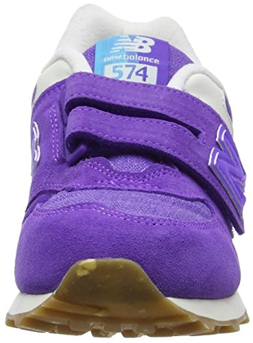 New Balance 574 Hook and Loop, Sneakers Basses Mixte Enfant Violet (Purple)