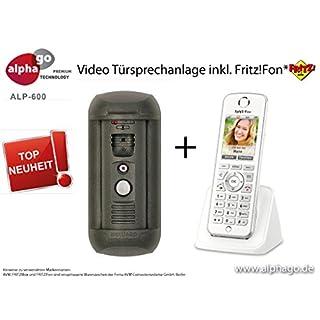 LAN SIP Video Türsprechanlage ALP-600 inkl. Fritz!Fon C4 - Überwachungskamera - kein Cloud Server - Fritz!Fon C4/C5 kompatibel - Steuerung über PC/Smartphone / Tablet - FTP Anbindung