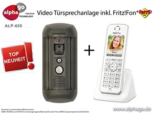 LAN IP Video Türsprechanlage ALP-600 inkl. Fritz!Fon C4 - Überwachungskamera - kein Cloud Server - Fritz!Fon C4/C5 kompatibel - Steuerung über PC/Smartphone / Tablet - FTP Anbindung