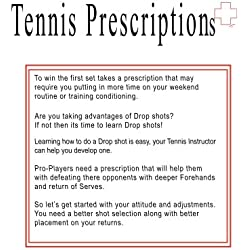 Tennis Prescriptions: Author Rita Ferdinando (Tennis Draws Work Book Virtual Coaching: This Is Just Something To Jot Down Notes!) (English Edition)
