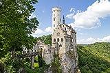 lunaprint Green Forest Around The Castle Liechtenstein