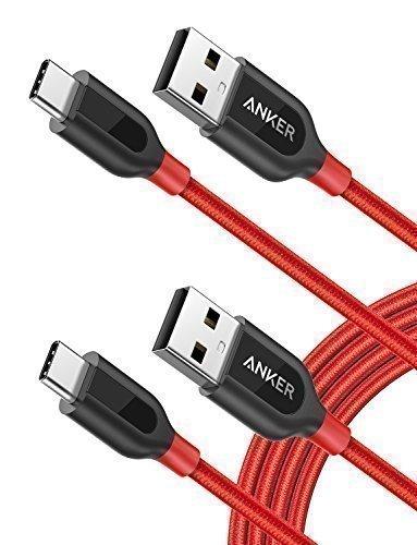 Anker USB C Kabel auf USB 2.0 Kabel[2-Pack] Powerline+ 1.8m, für Galaxy S9 S8+ S8, MacBook Sony XZ LG V20 G5 G6, HTC 10, Xiaomi 5 und Mehr(Rot) (Powerline-usb)