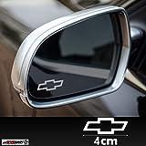 Chevrolet 3x Milchglasaufkleber,Gravur,Milchglas,Effekt, Frost,Frostfolie,Spiegelaufkleber,Aussenspiegel,Rückspiegel, Sticker, Logo `+ Bonus Testaufkleber