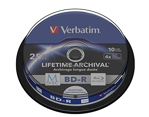 Verbatim 43825 25GB 4x M-Disc BD-R - 10 Stück Spindel
