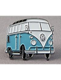 Brosche/Anstecknadel, VW Bus/Camper, Metall, Emaille, blau