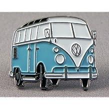 Pin de metal esmaltado, insignia broche Volkswagen VW Camper Van Transporter Azul