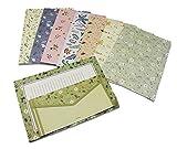 32 Sweet Floral Briefpapier mit 16 Umschlägen, Briefpapier 8 Farben