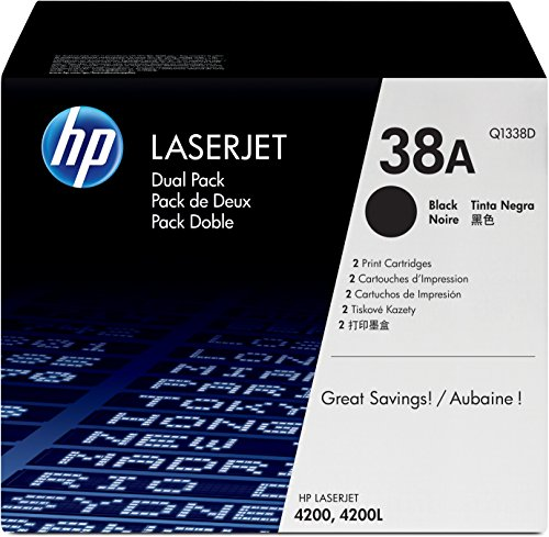 HP 38A 2er-Pack (Q1338D) Schwarz Original Toner für HP Laserjet 4200