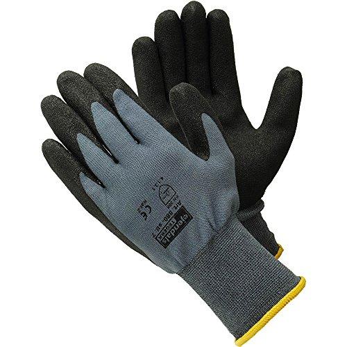 Ejendals Synthetikhandschuh Tegera 880, Größe 7, 1 Stück, schwarz / grau, 880-7 (Pvc-beschichtete Schwarz Handschuhe)