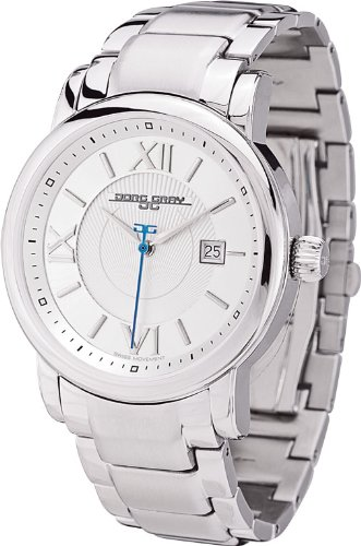Jorg Gray Men's Quartz Watch with Silver Dial Analogue Display and Silver Stainless Steel Bracelet JG7200-25