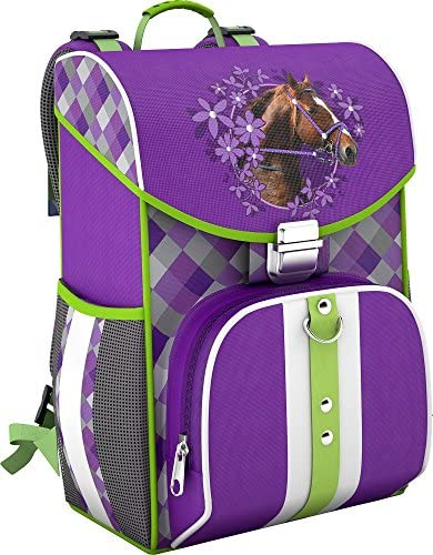 Nouvelle année nouvelle couleur SCOOLSTAR Pferde, Cartable Violet Violett | | | Outlet  b6807f