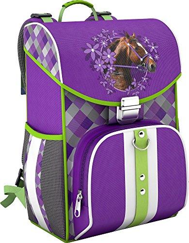 Pferde Horses Schulranzen für Mädchen 1 Klasse | Tornister Schulrucksack Schultasche für Grundschule | super leicht - NUR 680 GRAMM | ergonomisch und anatomisch ! inkl. Regenschutz von SCOOLSTAR