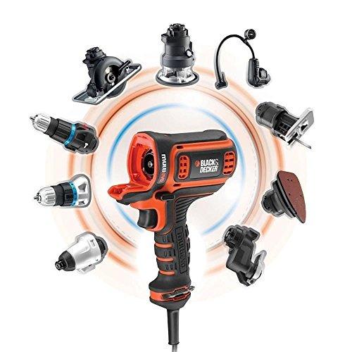 Black+Decker Multievo Elektro-Multifunktionswerkzeug Einstiegsset (300 W, werkzeugloser Kopfwechsel, 10 Drehmomentstufen, inkl. Koffer) MT350K