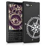 kwmobile BlackBerry KEYtwo (Key2) Hülle - Handyhülle für BlackBerry KEYtwo (Key2) - Handy Case in Weiß Schwarz