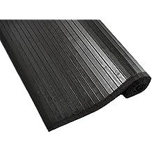 Tiendas Mi Casa - Alfombra de bambú KENIA (180x240 cm, Negro). Disponible en varios tamaños y colores.