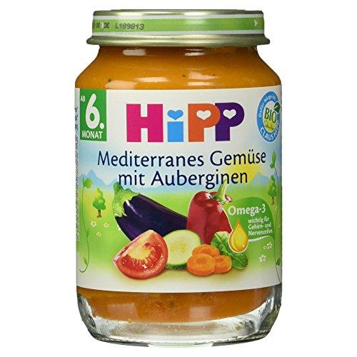 Hipp Mediterranes Bio Gemüse mit Auberginen, 190 g