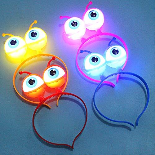 (Lionina Stirnband mit LED-Beleuchtung und Brille, blinkendes Stirnband, Halloween, rot, Free Size)