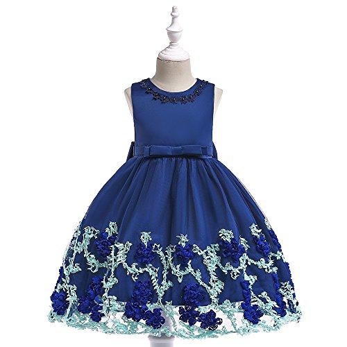 Prinzessin Kleider Mädchen Sleeveless Hochzeits-formales Kleid-Prinzessin Wedding Brautjungfern-Partei-Kleider Geburtstags-Festzug-Abend-Abschlussball-Ball-Kleid für Kinder 3-8 Jahre Kleine Mädchen Ko