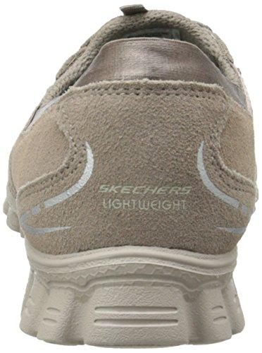 Skechers Sport Deja Vu moda Sneaker In Camoscio Grigio Talpa